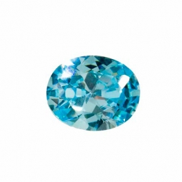10X8mm Oval Aquamarine CZ - Pack of 1