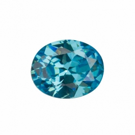 10X8mm Oval Blue Topaz CZ - Pack of 1