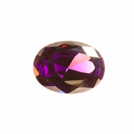 10x8mm Oval Amethyst CZ - Pack of 1