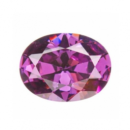 10x8mm Oval Light Amethyst CZ - Pack of 1
