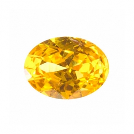 10X8mm Oval Yellow CZ - Pack of 1