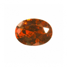 12X8mm Oval Garnet CZ  - Pack of 1