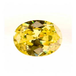 12X8mm Oval Peridot CZ - Pack of 1