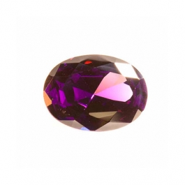 12X8mm Oval Amethyst CZ - Pack of 1