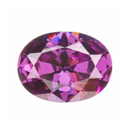 12X8mm Oval Light Amethyst CZ - Pack of 1