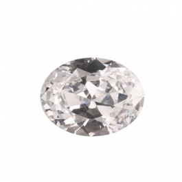 12X8mm Oval White CZ - Pack of 1