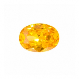 12X8mm Oval Golden Yellow CZ - Pack of 1