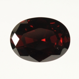 16x12mm Oval Garnet CZ  - Pack of 1