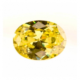 16X12mm Oval Peridot CZ - Pack of 1