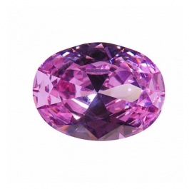 16X12mm Oval Lavender CZ - Pack of 1