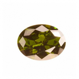 16X12mm Oval Olive CZ - Pack of 1