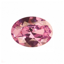 16X12mm Oval Pink Rose CZ - Pack of 1
