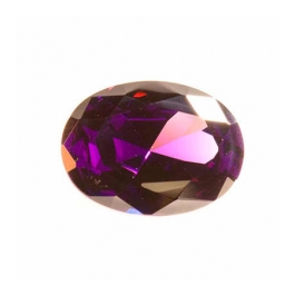 16X12mm Oval Amethyst CZ - Pack of 1
