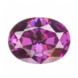 16X12mm Oval Light Amethyst CZ - Pack of 1