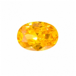 16X12mm Oval Golden Yellow CZ - Pack of 1