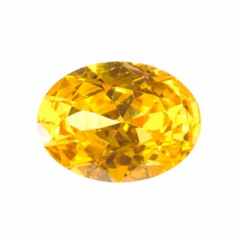 16X12mm Oval Yellow CZ - Pack of 1