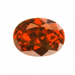 18X13mm Oval Red CZ - Pack of 1