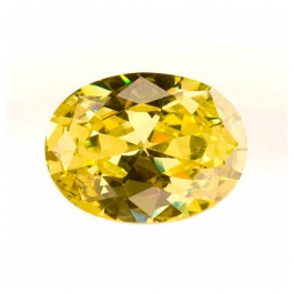 18x13mm Oval Peridot CZ - Pack of 1