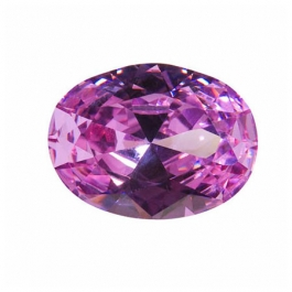 18x13mm Oval Lavender CZ - Pack of 1