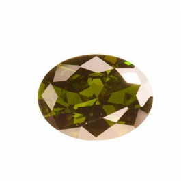 18X13mm Oval Olive CZ - Pack of 1