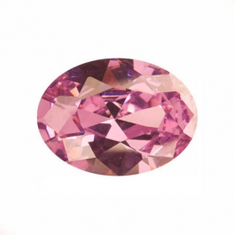 18x13mm Oval Pink Rose CZ - Pack of 1