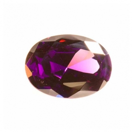 18x13mm Oval Amethyst CZ - Pack of 1