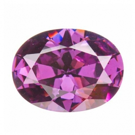 18x13mm Oval Light Amethyst CZ - Pack of 1