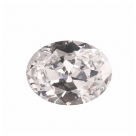 18x13mm Oval White CZ - Pack of 1