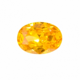 18x13mm Oval Golden Yellow CZ - Pack of 1