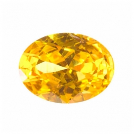 18X13mm Oval Yellow CZ - Pack of 1