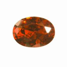 20X15mm Oval Garnet CZ  - Pack of 1