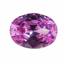 20x15mm Oval Lavender CZ - Pack of 1