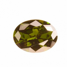 20X15mm Oval Olive CZ - Pack of 1