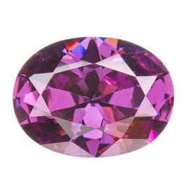 20X15mm Oval Light Amethyst CZ - Pack of 1