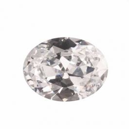 20X15mm Oval White CZ - Pack of 1