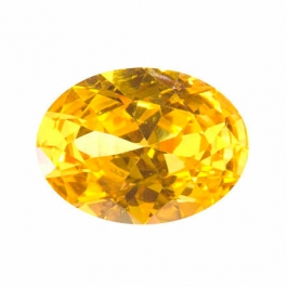 20X15mm Oval Yellow CZ - Pack of 1