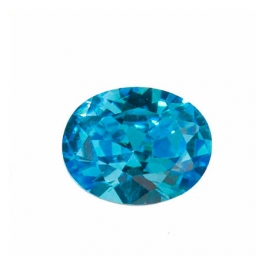 8X6mm Oval Blue CZ - Pack of 1