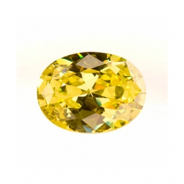 8x6mm Oval Peridot CZ - Pack of 1