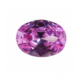 8x6mm Oval Lavender CZ - Pack of 1