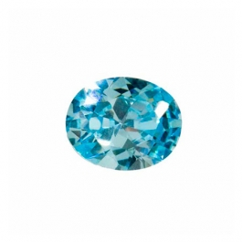 8X6mm Oval Aquamarine CZ - Pack of 1