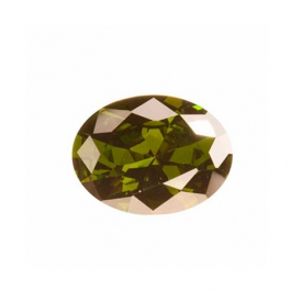 8X6mm Oval Olive CZ - Pack of 1