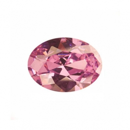8x6mm Oval Pink Rose CZ - Pack of 1