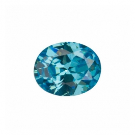 8X6mm Oval Blue Topaz CZ - Pack of 1