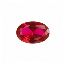 8x6mm Oval Ruby Corundum - Pack of 1