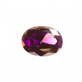 8x6mm Oval Amethyst CZ - Pack of 1