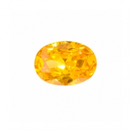8x6mm Oval Golden Yellow CZ - Pack of 1