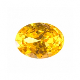 8X6mm Oval Yellow CZ - Pack of 1