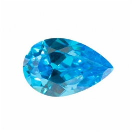 12X8mm Pear Blue CZ - Pack of 1