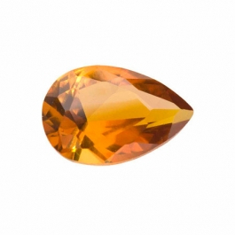 12X8mm Pear Citrine CZ - Pack of 1