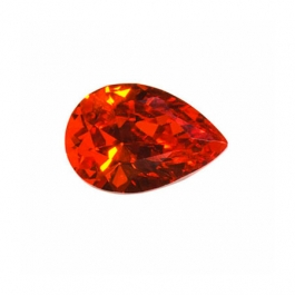 12X8mm Pear Red CZ - Pack of 1